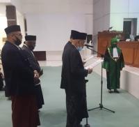 Pengukuhan Pimpinan MPU Aceh Dihadapan Ketua Mahkamah Syar'iyah Aceh