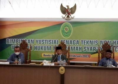 Bimtek Yustisial Tenaga Teknis non Hakim wilayah hukum Mahkamah Syar'iyah Aceh